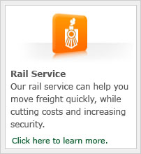 Our rail service can help you move freight quickly, while cutting costs and increasing security.