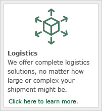 We offer complete logistics solutions, no matter how large or complex your shipment might be.