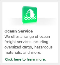 We offer a wide range of ocean freight services including oversized cargo, hazardous materials, and more.