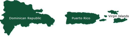 Puerto Rico, Dominican Republic, and Virgin Islands Shipping